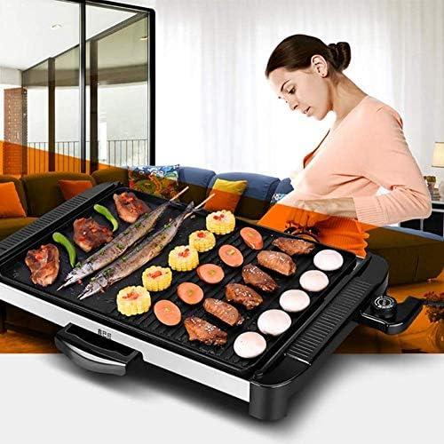 YF-SURINA Grill électrique Grill sans fumée Table Grill Grill poêle antiadhésive poêle électrique avec 5 réglages de température Grill extérieur grand ménage multifonctionnel