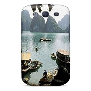 LdZuX96KvDuL Water Mountains Landscapes Nature Cave Fashion Tpu S3 Case Cover For Galaxy by supermalls
