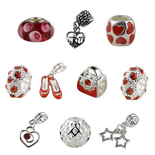 Charms and Beads, Mom Charm, Heart Charm, Shoe Charm, Purse Charm, Rhinestone Charm, Star Charm ()