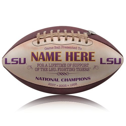 Personalized Tigers Football (LSU Tigers Personalized Throwback Football)