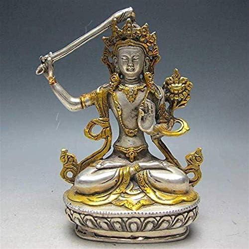 家の装飾中国仏繊細な彫刻クリエイティブ装飾シルバーブロンズチベット ...