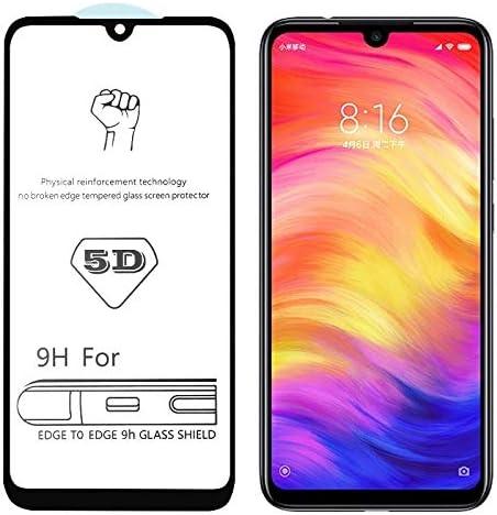 Huancement 25 PCS 9H 5D Full Glue Full Screen Tempered Glass Film Phone Screen Protector for Xiaomi Redmi Note 7