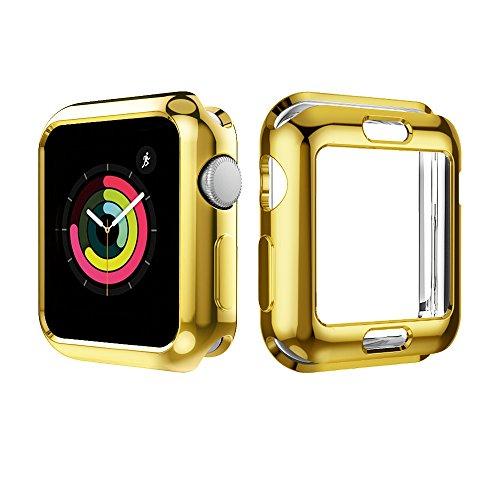 UBOLE Case for Apple Watch 38mm, UBOLE Scratch-resistant Flexible Lightweight Plated TPU Full Body Protective Case for iWatch Series3, Series 2, series 1 (5PACK, 38mm) by UBOLE (Image #3)