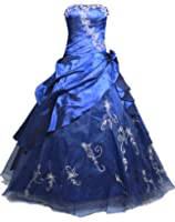 Faironly Strapless #M37 Formal Prom Dress Gown (Navy Blue)