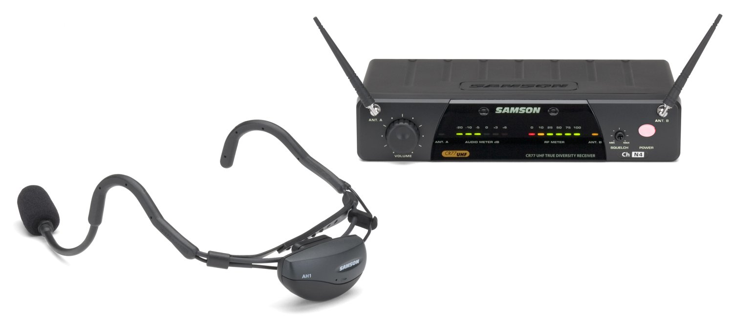 Samson AirLine 77 Headset True Diversity UHF Wireless System with Fitness Microphone (Channel N2)