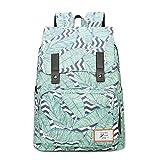 Urmiss High/Middle School Bookbags for Girls, Leaf Printed Backpack Women College Shoulders Bags Traveling Daypack