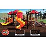 NuPlay Playground Rubber Mulch Redwood 50 bags (75 cubic feet of mulch) cover 300 square feet