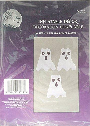 Halloween Inflatable Balloon Decorations ~ 3 Per Pack (Jack-O-Lantern) -