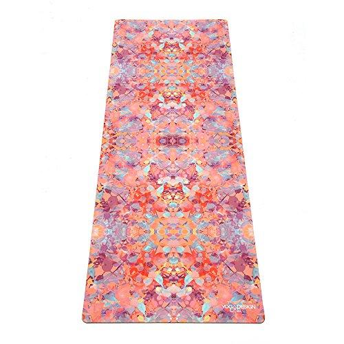 The Combo Yoga Mat. Luxurious, Non-Slip, Mat/Towel Designed to Grip Better w/Sweat! Machine Washable, Eco-Friendly. Ideal for Hot Yoga, Bikram, Ashtanga, or Sweaty Practice. (Kaleidoscope, 70 x 24)