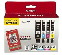 Canon PGI-250/CLI-251 INK COMBO PACK, COMPATIBLE TO MX922, MG7520,MG7120,MG6620,MG5620, MG6420,MG5520,MG6320 AND MG5420