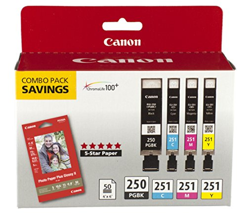 Canon PGI-250/CLI-251 Combo Pack (Canon Printer Ink)