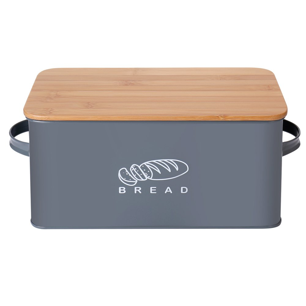 G.a HOMEFAVOR Kitchen Bread Bin Bread Storage Container Bread Crock with Bamboo Lid, 37 * 19 * 17 cm