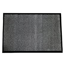 """Durable Corporation Wipe-N-Walk Carpet Entrance Mat, for Indoor Areas, 24"""" Width x 36"""" Length x 3/8"""" Thickness, Charcoal"""