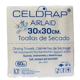 Toallas de secado desechables tejido Airlaid 30x30 cms. 600 uds: Amazon.es: Industria, empresas y ciencia