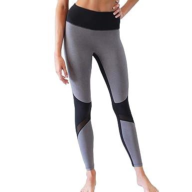 Pantalones Largos Deportivos Mujer-Pantalones Yoga-Leggings ...