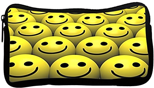Rikki Knight Smiley Face Balls Design Neoprene Pencil Case (pc935)