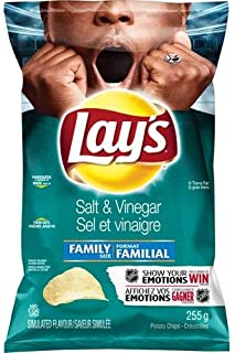 product image for Lay's Potato Chips, Salt and Vinegar 255g/9oz., {Imported from Canada}