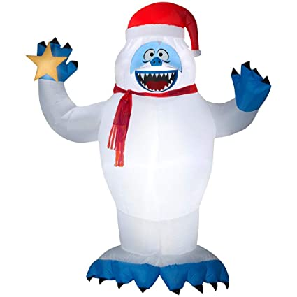 2e14e3f4f7b34 Amazon.com  Christmas Inflatable Colossal 12  Bumble With Star By Gemmy  Rudolph The Red Nosed Reindeer Character  Garden   Outdoor