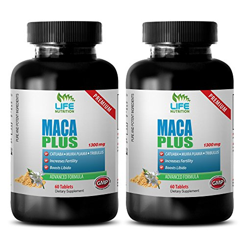 Increase sexual drive for men - MACA PLUS (ADVANCED FORMULA) - Maca for weight loss - 2 Bottles 120 Tablets