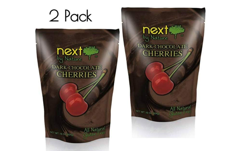 Next by Nature Dark Chocolate Cherries, 2 Bags 16 oz Each by Next By Nature