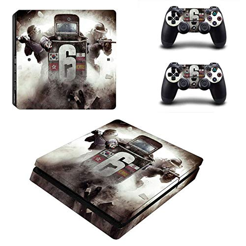 Playstation 4 Slim Skin Set - Shooter Game - HD Printing Vinyl Skin Cover Slimtective for PS4 Slim Console and 2 PS4 Controller by okanhyeu. (Best Rainbow Six Siege Skins)