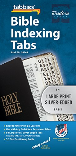 Tabbies Bible Index Tabs - Large Print Silver Edge