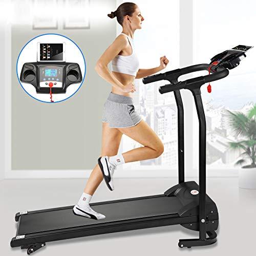 Fitnessclub Folding Electric Motorised 1100 W Treadmill Walking Running Machine Adjustable Incline Fitness Exercise…