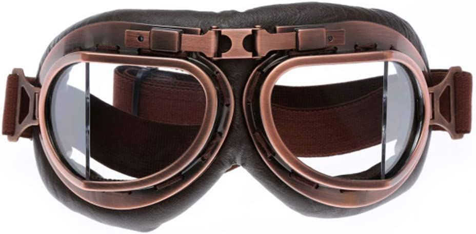 Cuivre Protection UV Hpybest Lunettes de moto Style vintage