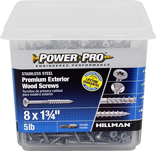 The Hillman Group 48625 Power Pro Exterior All Purpose Screw, 8 x 1-3/4 (2)