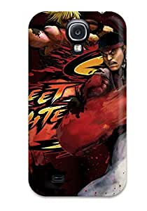 Galaxy S4 Case Cover - Slim Fit Tpu Protector Shock Absorbent Case (street Fighter)