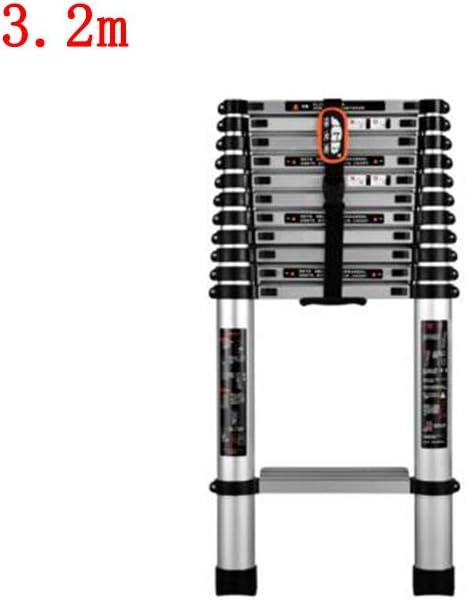ZPWSNH Escalera telescópica Escalera doméstica Proyecto Interior Plegable Escalera de bambú Escalera de Aluminio Engrosamiento de la aleación de Aluminio Taburete (Size : 3.2m): Amazon.es: Hogar