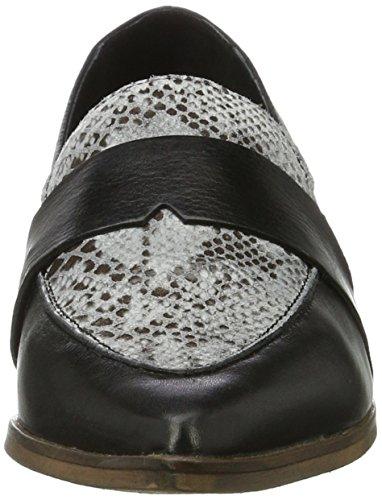 Bianco Spitzer Loafer - Mocasines Mujer Negro (Black 2)