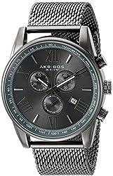 Akribos XXIV Men's AK813GN Chronograph Gun Metal Stainless Steel Mesh Bracelet Watch
