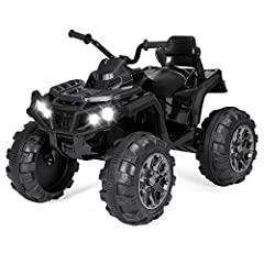 Conquer parks and sidewalks with a tough ATV built for a kid's largest adventures! This robust 4-wheeler drives and feels like the real deal with treaded traction wheels and a max speed of 3.7 mph to cut through dirt and grass with ease. Get ...