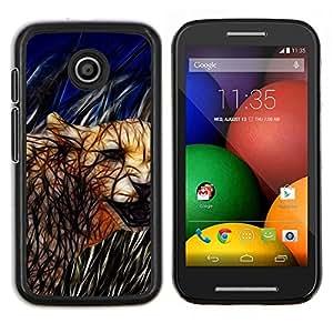 TECHCASE---Cubierta de la caja de protección para la piel dura ** Motorola Moto E ( 1st Generation ) ** --Cat Cougar felina Naturaleza Animales Salvajes