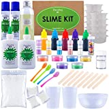 Ultimate DIY Slime Kit for Girls and Boys - Slime Kits - Slime Stuff - Slime Making Kit - Slime Supplies Kit - Makes Cloud, Galaxy, Mermaid, Fruit Slice, Fluffy, Glow-In-The-Dark, Color Changing &More