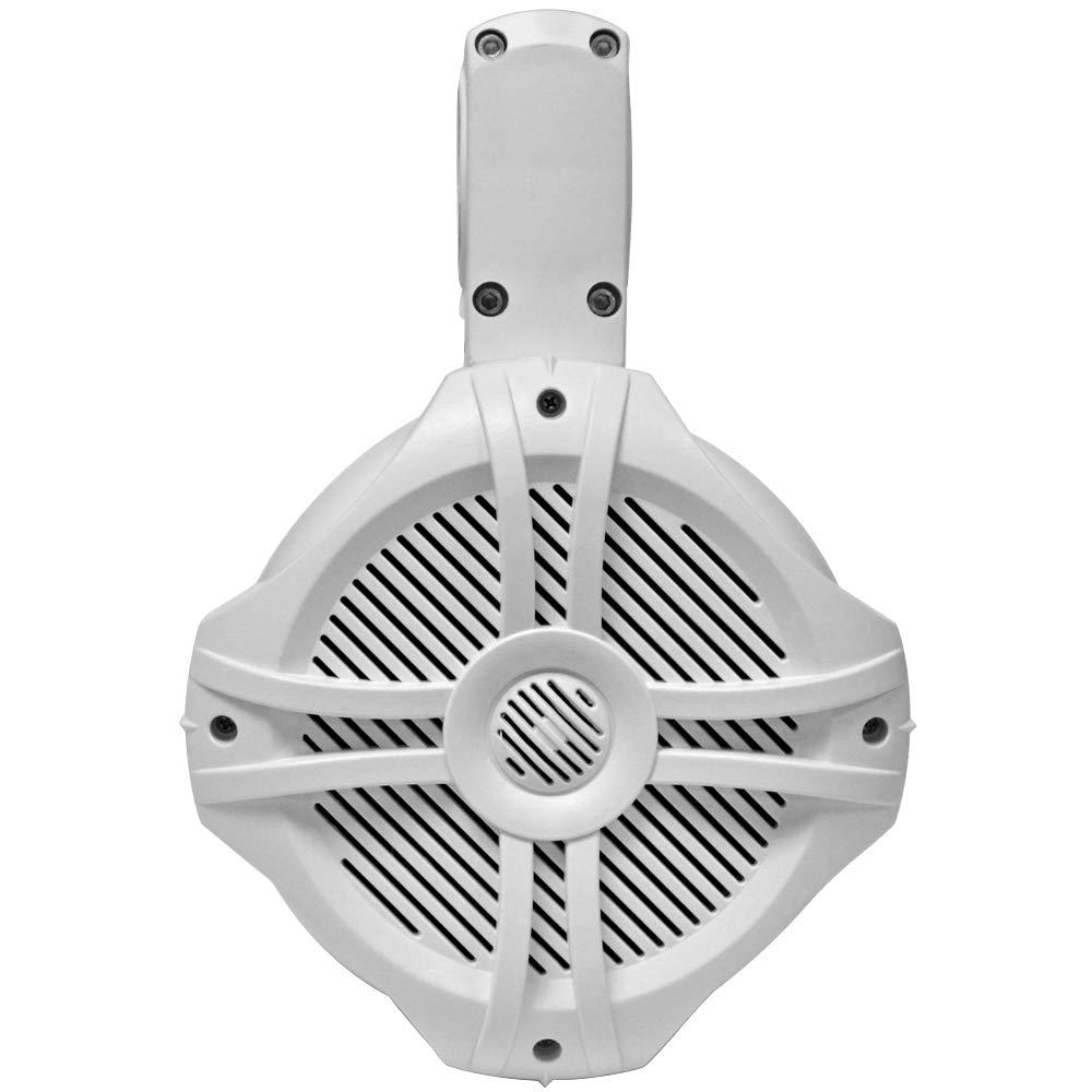 SA-WT65W Pair of 250 Watt 6.5 Inch 2-Way White Wakeboard Tower Speakers Seismic Audio 500 Watt Marine Speaker System