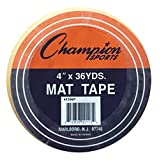Champion Sports Wrestling Gymnastic Floor Mat Clear Tape - Multiple Widths Lengths