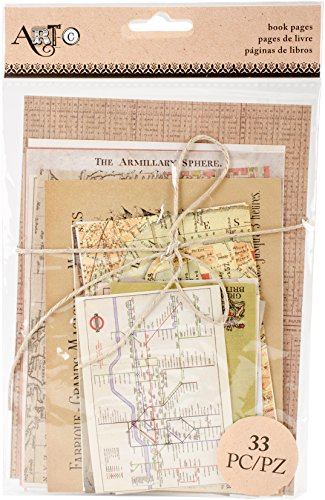 Momenta 26150 Art-C Book Pages Ephemera 33/pkg-Travel by Momenta