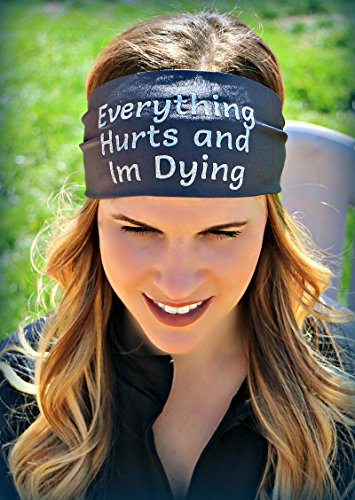 RAVEbandz Exclusive Fashion Headbands (SLOGANZ) – Non-Slip Wide Hippie Sports & Athletic Hair Bands for Women and Girls (Feeling Nauti)