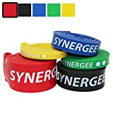 iheartsynergee Red 60-150lbs Pull Up Assist Bands – Heavy Duty Resistance Super Bands – Power Band Loop Exercise Bands Mobility & Powerlifting Bands – Perfect for Stretching & Resistance Training