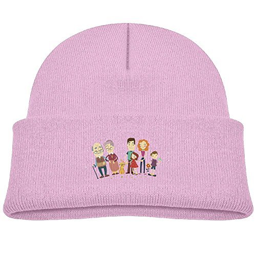 OBY Watch Cap Winter Outdoor Sports Cartoon Family Portrait Child Unisex Knit Cap (Family Christmas Outdoors Portraits)