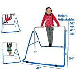 ToyKraft Kids Jungle Gymnastics Monkey Bars Climbing Tower Expandable Junior Training Bar Indoor Foldable