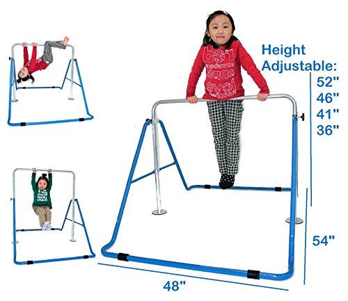 Kids Jungle Gymnastics Expandable Junior Training Monkey Bars Climbing Tower Child Play Training Gym Blue by Kids Jungle (Image #1)