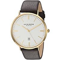 Akribos XXIV Men's Gold-Tone Case Watch