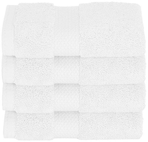 Daisy House 4 Piece Mesa Wash Cloths, White (Gram 800 Towels)