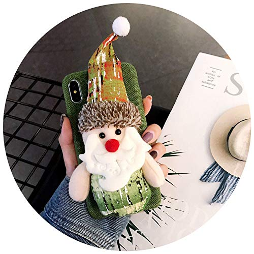 Luxury Christmas Case for iPhone X XS XR Max Cute Girly Santa Hats Toys Phone Cases for iPhone 6 6S 7 8 Plus Cover Gift,Green,for iPhone Xs