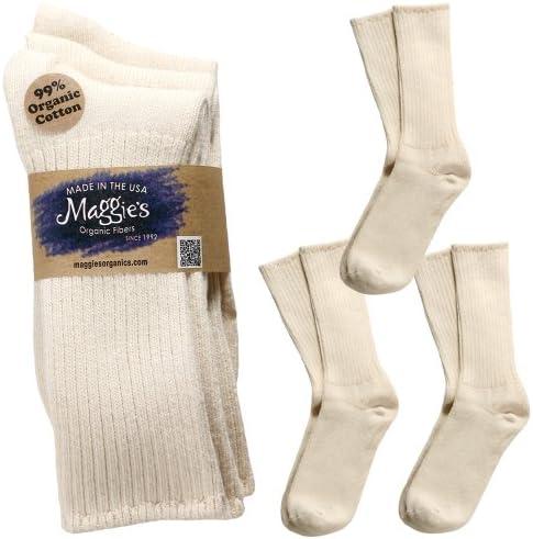 Maggie's Organics - Organic Cotton Classic Crew Socks - 3 Pairs - Unisex