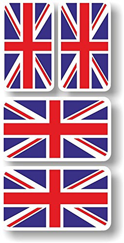 Vinyl sticker/decal Extra small 45mm & 35mm Union Jack flags - group of 4