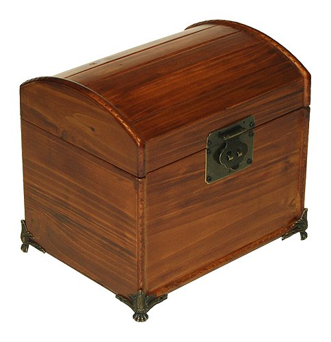 (Mountain Woods Valencia Antique Style Recipe Box w/ Legs)